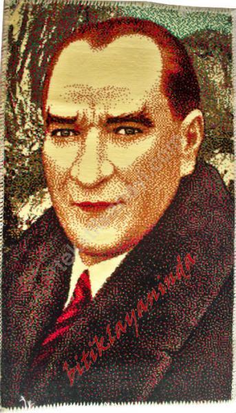 Halı Üzerine Atatürk Portresi