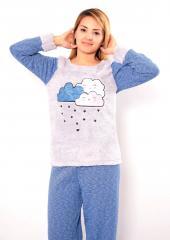 Bayan Polar Pijama Takımı Welsoft M L XL