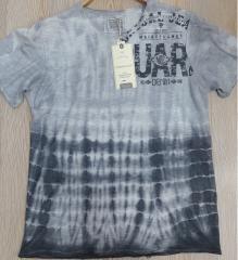 Bisiklet Yaka Yıkama Batik T-Shirt