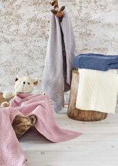 Organik Pamuk Örgü Bebek Battaniyeleri