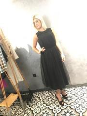 Tül Siyah Elbise