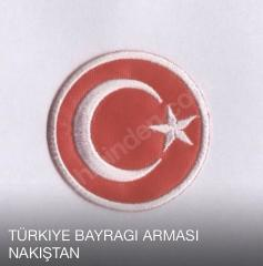 Türk bayragı arması yuvarlak