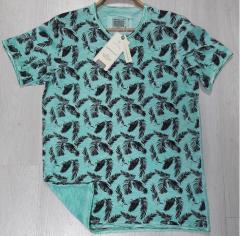 Yıkama Pano Baskı T-Shirt